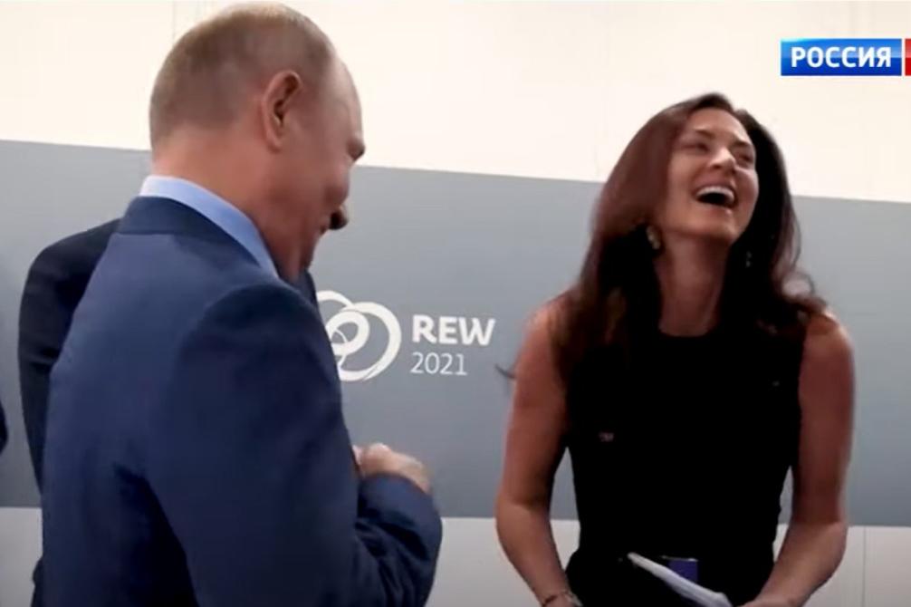 Putin rozesmál americkou novinářku vtipem o obyvatelích Sibiře